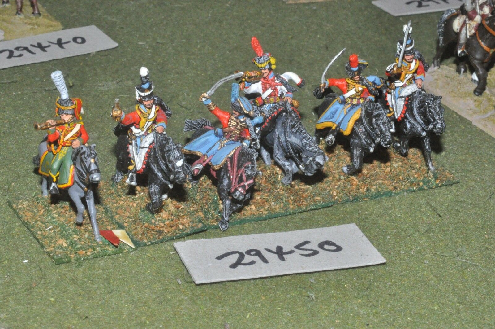 25mm napoleonic   french - hussars 6 figures - cav (29450)