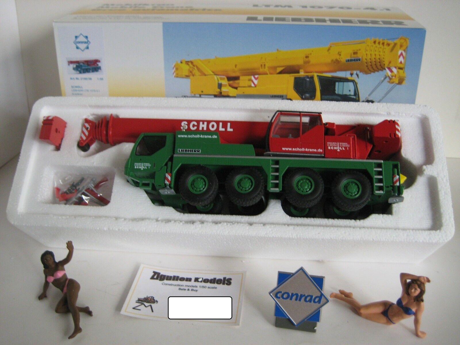 Liebherr LTM 1070-4.1 Autokran Scholl  2100.38 CONRAD 1 50 NEUF dans sa boîte