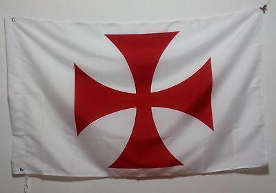 3/'X5/' Flag Banner Knight Templar Order Brass grommets 90*150cm