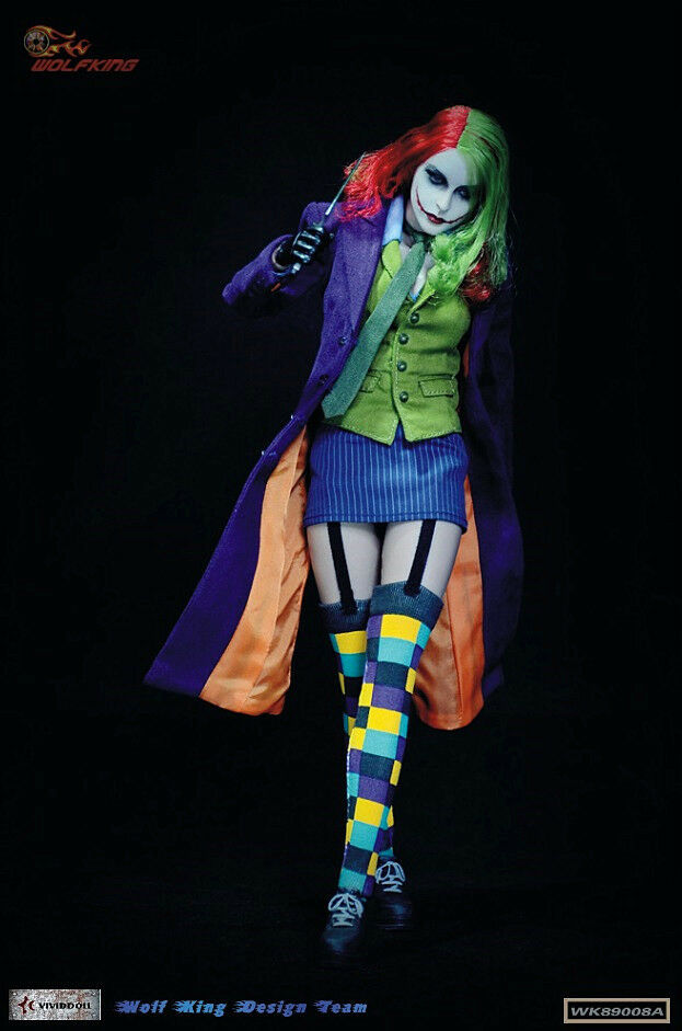 1/6 Wolfking WK89008A Female Joker Ver The Dark Knight 12  Action Figure Nuovo FS