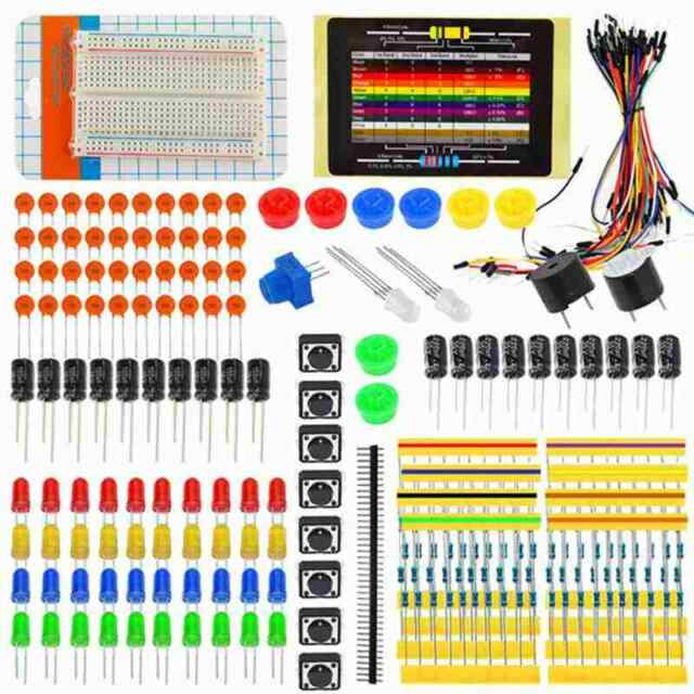 Electronic Starter Kit for Arduino Resistor Buzzer Breadboard LED Dupont ca C3A8