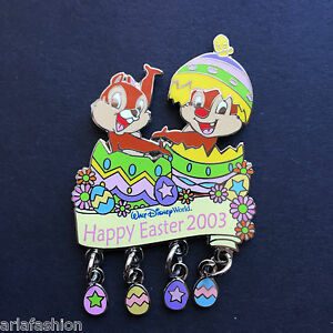 WDW-Happy-Easter-2003-Chip-amp-Dale-Dangle-LE-3500-Disney-Pin-21240