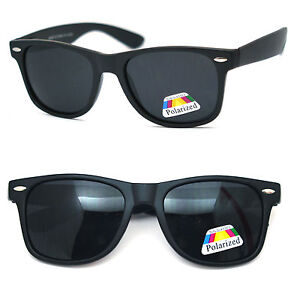5b4ce97667d Image is loading Polarized-Retro-Square-Square-Sunglasses -Spring-Hinges-Matte-