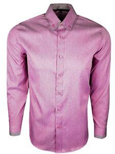 nuovi prodotti per vasta gamma sconto più basso Dettagli su Uomo Doppio Colletto Quadri Bordo Camicia Manica Lunga Elegante  Vestito Casual (
