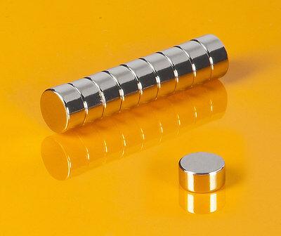 10 Neodym Magnete 10 x 5 mm runde Scheiben N42 10x5mm Supermagnete Heimwerker