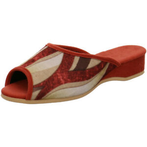 Helmut-Trunte-Damen-Schuhe-Hausschuhe-Pantoffeln-Pantolette-95270-rost-30mm