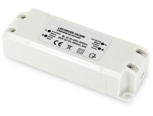 Trasformatore LED 30w 230v /> 12v-LED adatto a partire da 1w-Trasformatore Alimentatore Luce Nastro