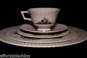 Lenox China Rutledge 5pc Place Setting~Dinner Salad Bread Cup Saucer Plate~