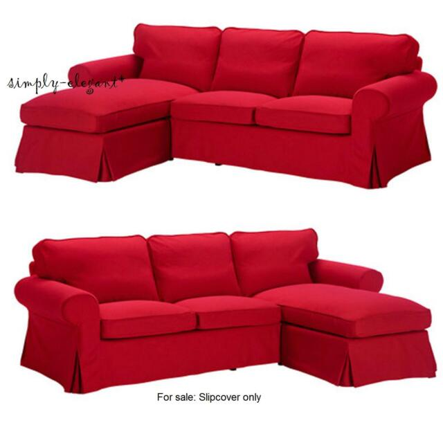Superieur NEW IKEA EKTORP Cover For IKEA EKTORP Loveseat With Chaise Idemo Red  Slipcover