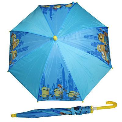 Per Bambini Ombrello Disney/personaggi - Minion Design Blu Rafforza Tendini E Ossa