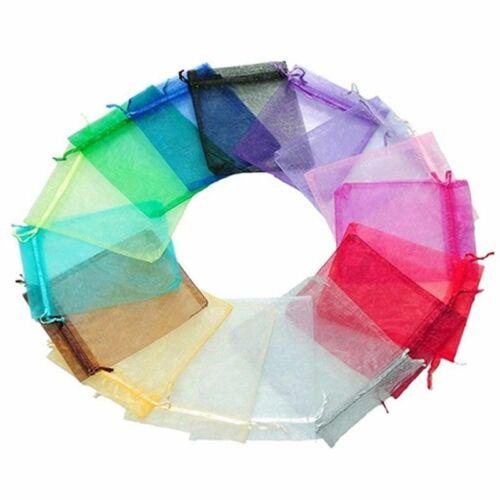 50 Stücke Mehrfarben Organza Geschenktüten Hochzeitsfest Favor Taschen Sc 2kr 1X