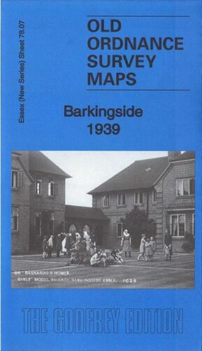 OLD ORDNANCE SURVEY MAP BARKINGSIDE 1939 PEEL DRIVE TANNERS LANE GREAT GEARIES