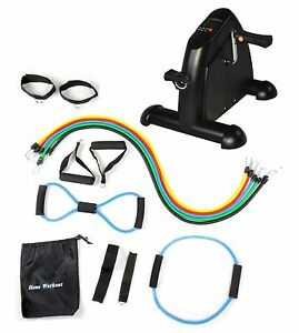 Rehabilitation-Exercise-Bike-Mini-Cycle-BLACK-14-Heavy-Duty-Latex-Bands-NEW