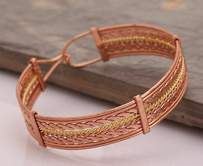 Bangle Cuff Magnetic Copper Bracelet Healing Pain CN158