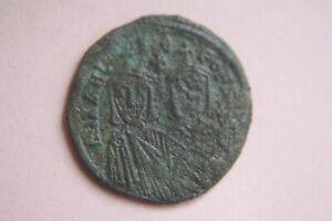Coins & Paper Money Ancient Byzantine Michael Ii Bronze Follis Coin 9th Century Ad