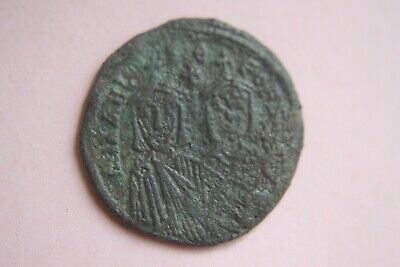 Ancient Byzantine Michael Ii Bronze Follis Coin 9th Century Ad Coins: Ancient
