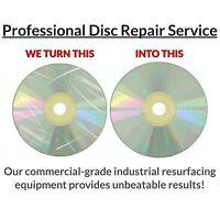 5 CD DVD Video Game Disc Repair Service Fix Scratch Resurface Damage Wii Xbox360