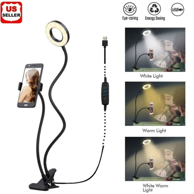 Selfie Ring Light With Cell Phone Holder For Live Stream 360 Rotating Flexible For Sale Online Ebay