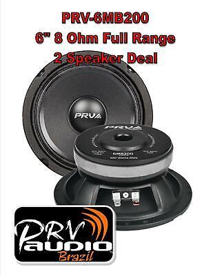 4 PRV Audio 6MB250-NDY 6 Neodymium Mid bass Range Loud Speaker 8-ohm 1000W 2 Pair