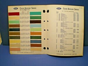 1958  FORD CANADA CAR COLOR CANADIAN PAINT CHIP C-I-L SAMPLES CHART