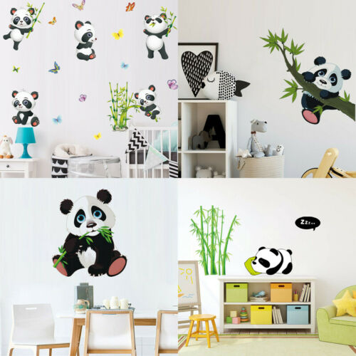 Panda Bamboo Cute Animal Wall Sticker Nursery Kids Room Art Mural Cartoon Decor