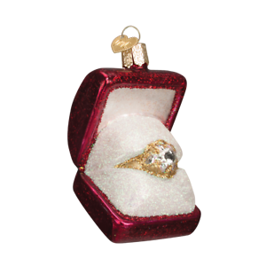Old-World-Christmas-RING-IN-BOX-32176-N-Glass-Ornament-w-OWC-Box