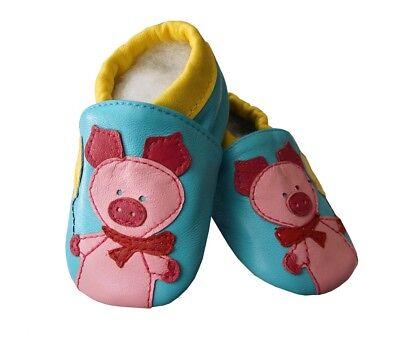 24 Echtleder NEU Leder Schuhe Puschen Hausschuhe Größe 18-24 Monate Gr 23