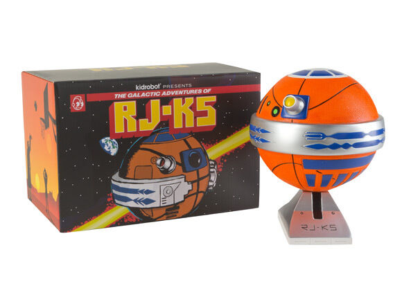 KIDROBOT - RJ-K5 Astrofresh Basketball Droyd (Game Ball Edition) by JK5  NEW