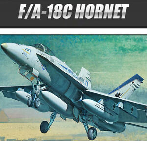 1-72-F-A-18C-HORNET-Academy-Model-Kit-US-Navy-USMC-ver-12411