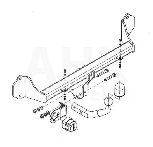 Für BMW 3er F31 Touring Anhängerkupplung starr+ESatz 7pol ABE
