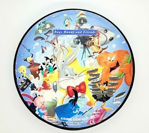 Warner-Brothers-Looney-Tunes-500-PC-Round-Jigsaw-Puzzle-Bugs-Bunny-Friends-1997