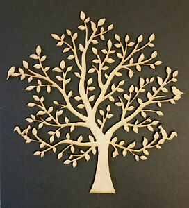 Wooden Tree Family Tree Shape Mdf Blank Crafting