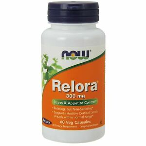 Now Foods RELORA 300 mg, 60 VCaps STRESS APPETITE & CORTISOL CONTROL, RELAXATION