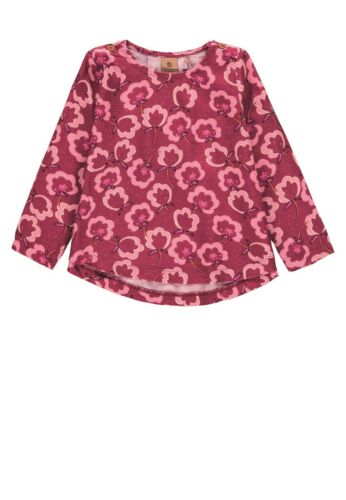 bellybutton Tunika Langarm Shirt T-Shirt Monkey Affe Blüten rot pink 1973141 NEU
