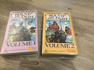 Round-the-Twist-Volume-1-amp-Volume-2-VHS-Video-Tapes-in-Cases-RARE