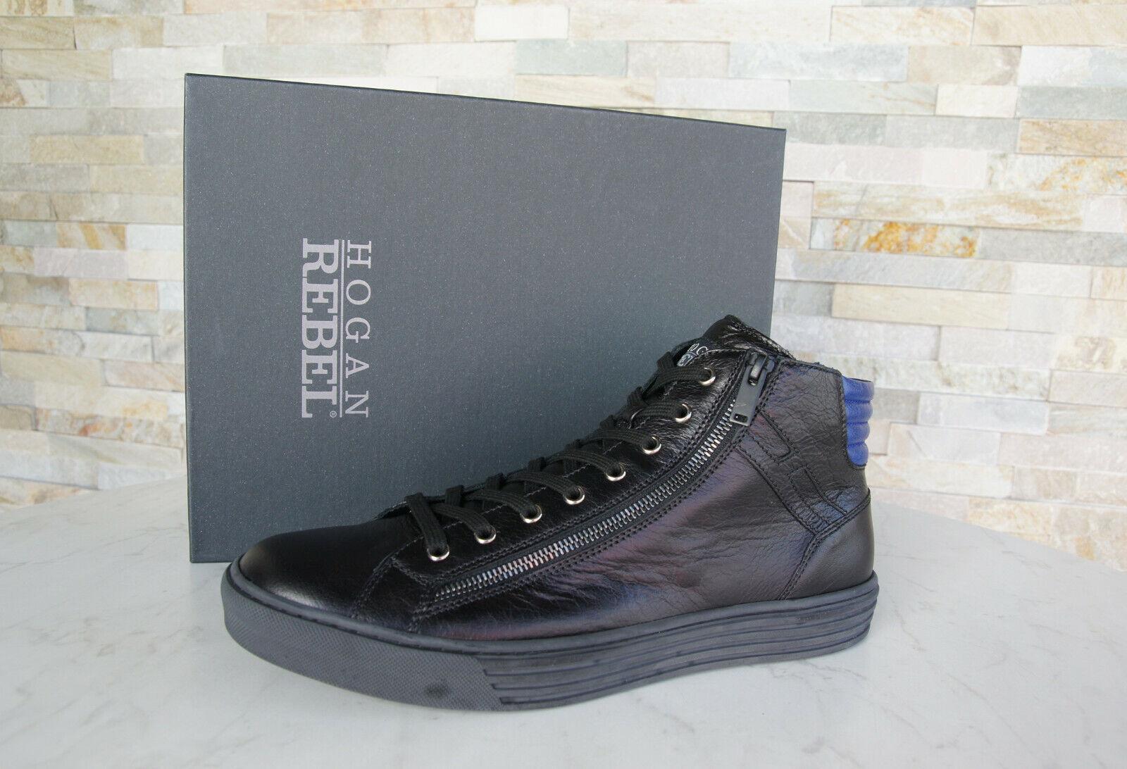Hogan 11 45 High Top zapatillas schnürzapatos nuevo zapatos negro azul ex. PVP
