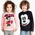 Toddler Kids Mickey Minnie Girl Boys Sweatshirt T-shirt Top Jumper Pullover New