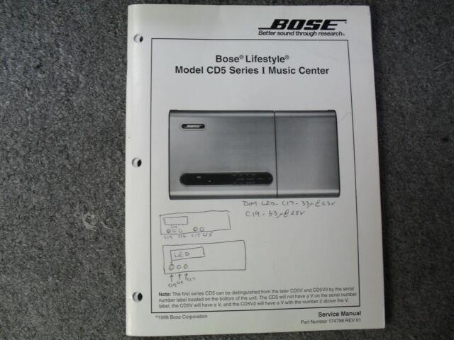 Bose Lifestyle Model Cd5 Series I Service Manual