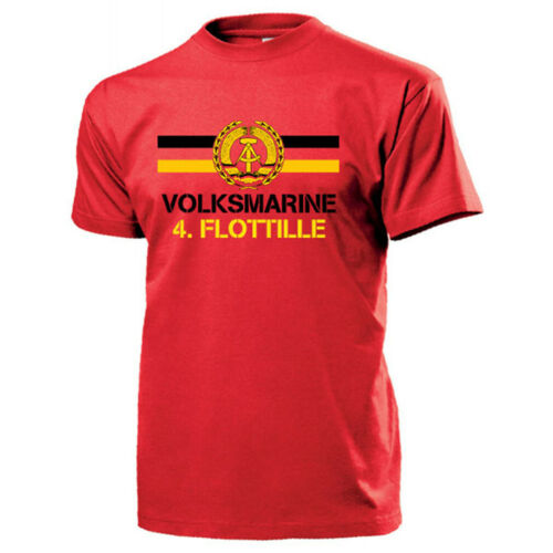 Volksmarine 4.Flottille NVA DDR Nationale Volksarmee T Shirt #13139