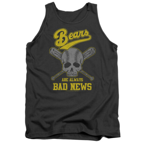 Bad News Bears BEARS ARE ALWAYS BAD NEWS Licensed Adult Tank Top All Sizes
