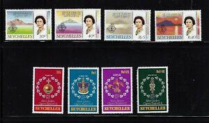 Seychelles-1977-8-MNH-Silver-Jubilee-of-Queen-Elizabeth-II