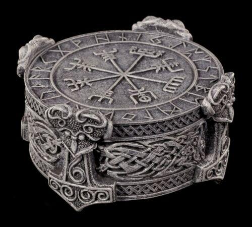 Schmuckkästchen Dose Box Wikinger Runen Alphabet Schatulle