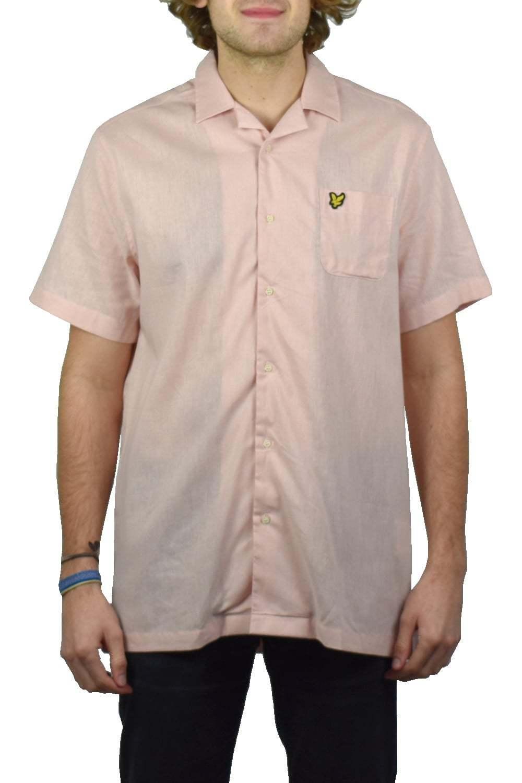Lyle & Scott Resort Short-Sleeved Shirt (Dusty Pink)