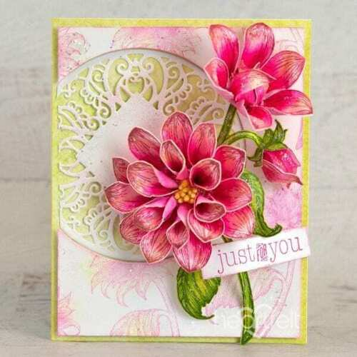 Heartfelt Creations Stamps ~ DAZZLING DAHLIA ~ HCPC3928