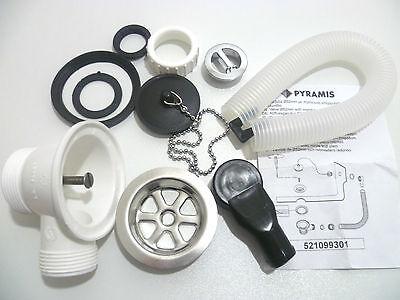 Kitchen Sink Waste Kit For Metal Sinks Plug Amp Chain 52mm