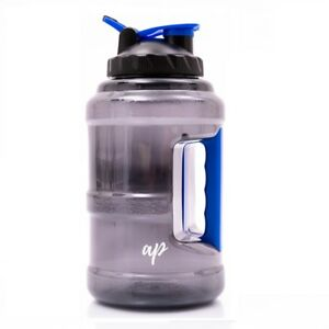 BPA-Free-Water-Bottle-Half-Gallon-Plastic-Jug-Container-with-Handle-85oz-New