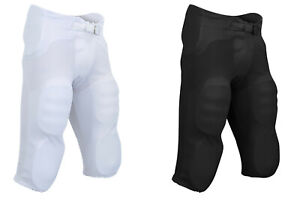 Champro Football Pants with Integrated Built In Pads Black, White Youth or Adult