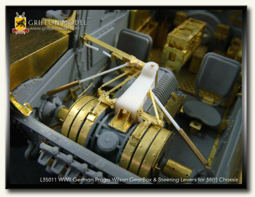 Griffon Model 1//35 Praga-Wilson Gearbox w//Steering Levers for Panzer 38t Chassis