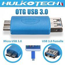 Micro USB 3.0 adaptateur OTG pour Samsung Galaxy Note 3 N9000 N9005 / Galaxy S5