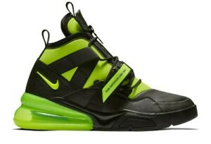 Nike-Air-Force-270-Utility-Sneakers-Shoes-Black-Volt-Mens-Size-8-Womens-size-9-5